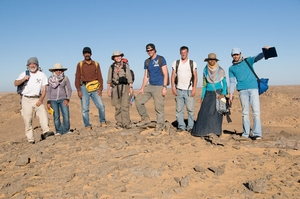 Egyptian and American faculty and students in the field at El Kasr