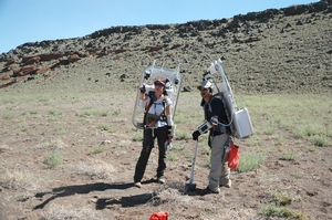 Field work at DRATS, San Francisco Volcanic Field